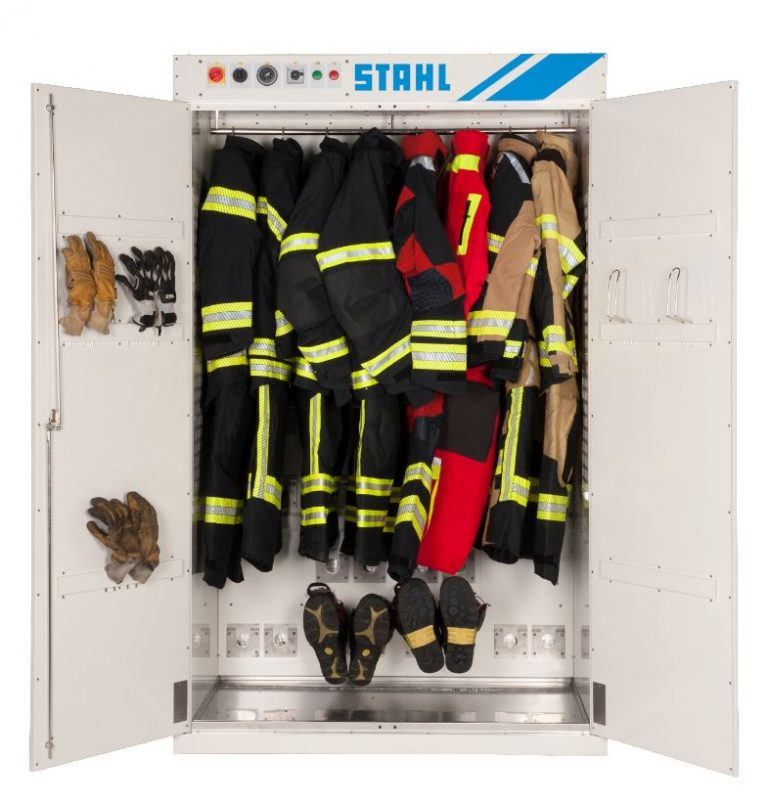 Fire department drying cabinet