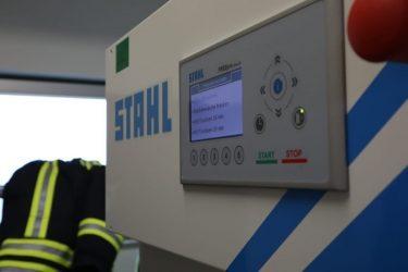 Feuerwehr Waschmaschine Displayanzeige - Stahl Waeschereimaschinen