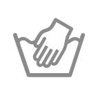 Pflegesymbole für das Waschen - Handwäsche