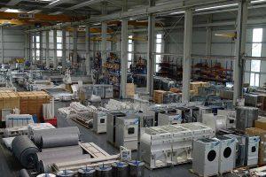 Produktion Waschmaschinen