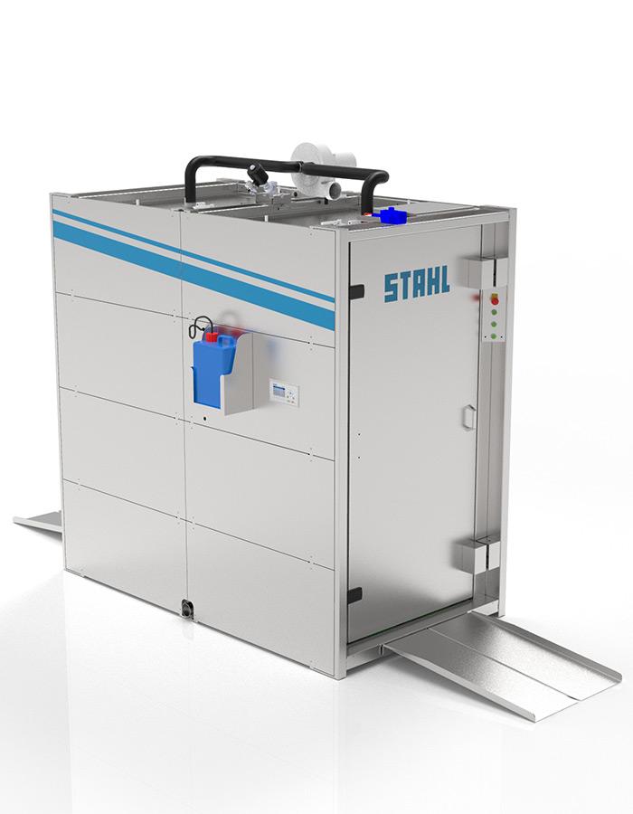 Desinfektionsschleuse von STAHL Wäschereimaschinen