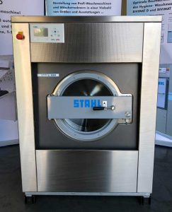 STAHL Wäschereimaschinen | Maschinen Shop | Messemaschine ATOLL 220 E | Ansicht: vorn