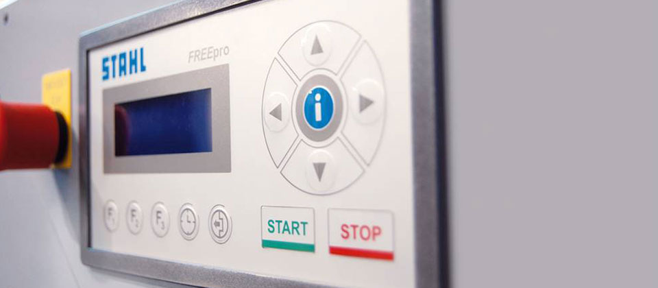 Simple control unit of your STAHL laundry machines