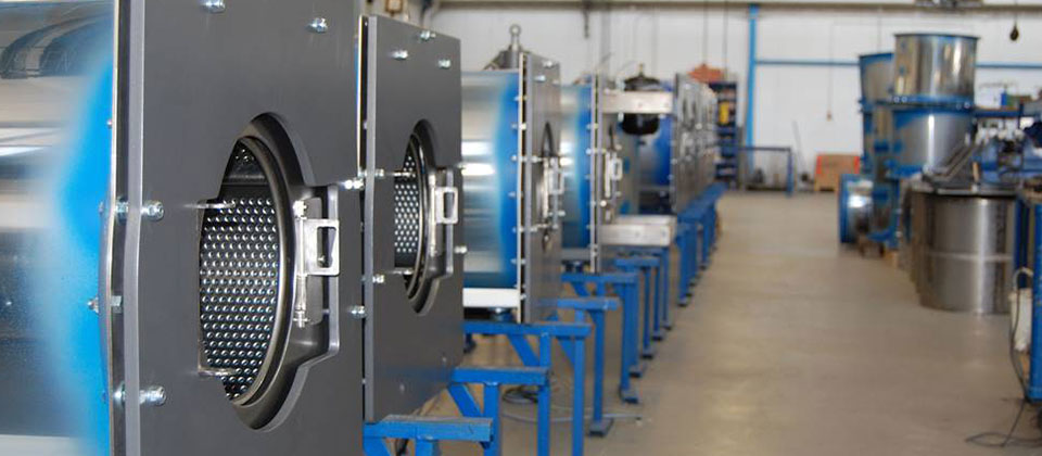 Production of commercial washing machines by STAHL laundry machines