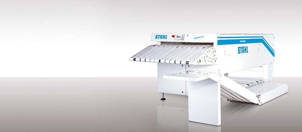 Textile folding machine from STAHL Laundry Machines